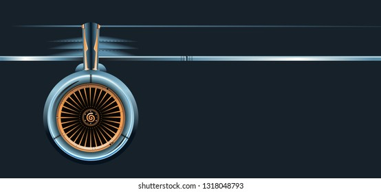 wing with turbine. Available EPS-10 vector format separated by groups and layers for easy edit