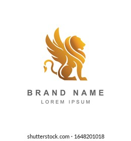 Winged lion logos, Fantasy creatures, Fantasy beasts, Mythical creatures, Griffin