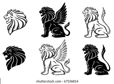 Winged Lion Silhuette