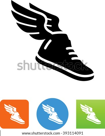 winged shoe mercury icon stock vector royalty free 393114091 rh shutterstock com Neptune Clip Art Sun Clip Art