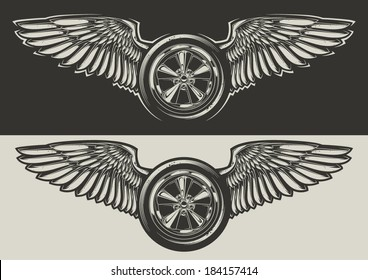 Winged wheel