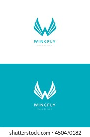 Wingfly logo template.