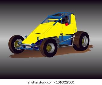 Wingless Sprint Car