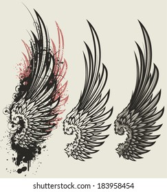 Tattoo Wings Hd Stock Images Shutterstock Deeper meanings can be expressed by the types of. https www shutterstock com image vector wings 183958454