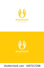 Wings corporation logo template.