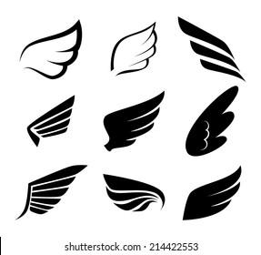 Wings design over white background, vector illustration
