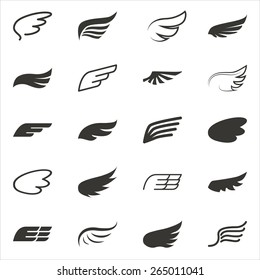 Wings Graphic Element Vector - EPS10