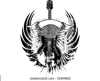 wings guitar emblem