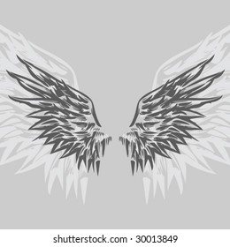 Wings (Hand Drawn Vector Illustration)