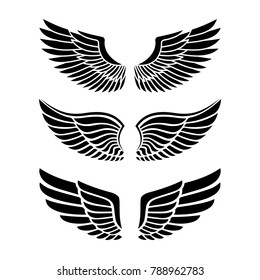 Wings for heraldry, tattoos, logos.