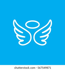 wings icon illustration isolated vector