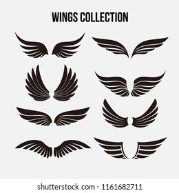 Wings Icon Logo Template Vector Set