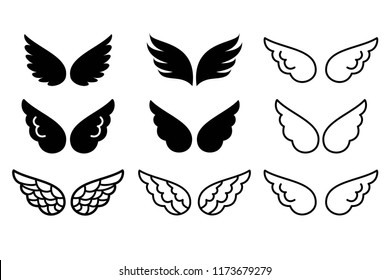 Wings icon vector