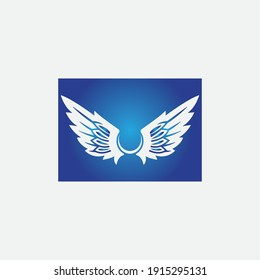 wings illustration design icon logo template