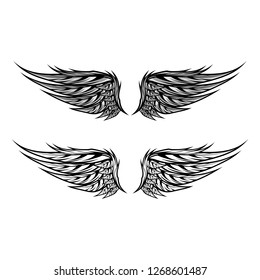 wings isolated vector template design