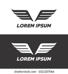 wings logo concept
