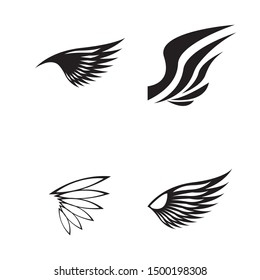 wings logo design and ilustration template