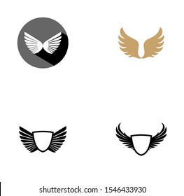 wings logo design vector illustration
