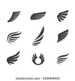 wings logo symbol icon vector illustration template