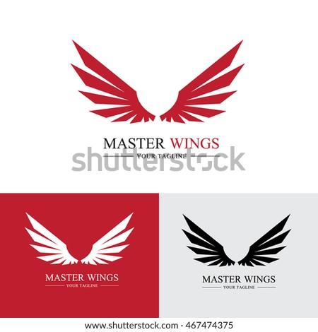wings logo template のベクター画像素材 ロイヤリティフリー