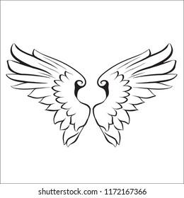 wings logo vector illustration