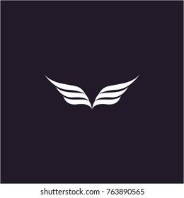 wings logo vectorillustration