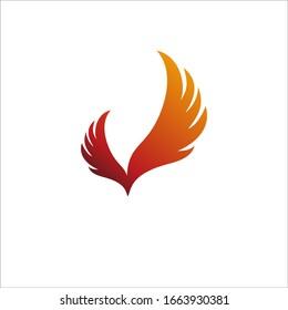 wings or phoenix logo vector