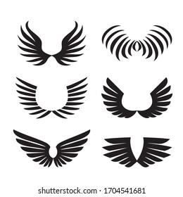eagle wings images stock photos vectors shutterstock https www shutterstock com image vector wings set simple logo sign element 1704541681