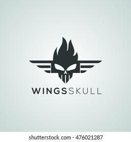 Wings Skull Logo available in vector/illustration