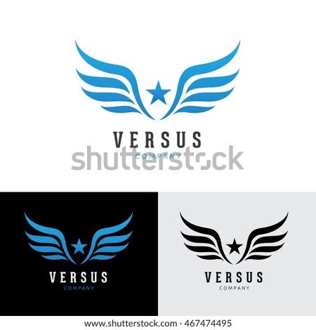 wings star logo template のベクター画像素材 ロイヤリティフリー