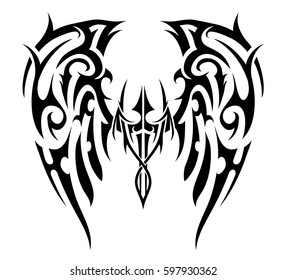 c55354b55d7d6 Tribal Tattoo Wings Images, Stock Photos & Vectors | Shutterstock