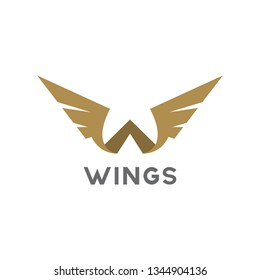 Wings template icon Aircraft logo design inspiration