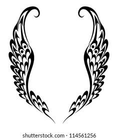 Tribal Tattoo Wings Images Stock Photos Vectors Shutterstock