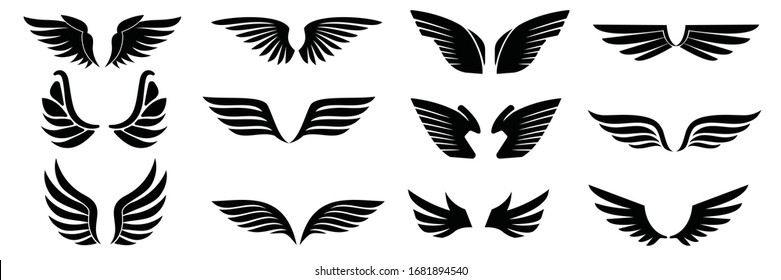 eagle wings images stock photos vectors shutterstock https www shutterstock com image vector wings vector icons set wing icon 1681894540