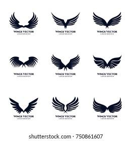 Wings Vector Logo Template Set