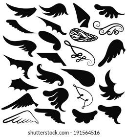 Wings; vector set
