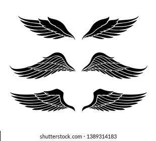 Wings Vector Set. EPS format
