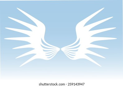 wings white flat vector