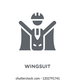 Wingsuit icon. Wingsuit design concept from Camping collection. Simple element vector illustration on white background.