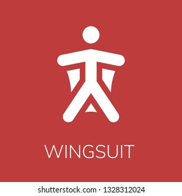 Wingsuit icon. Editable  Wingsuit icon for web or mobile.