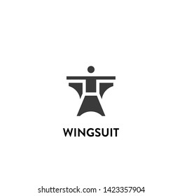 wingsuit icon vector. wingsuit vector graphic illustration