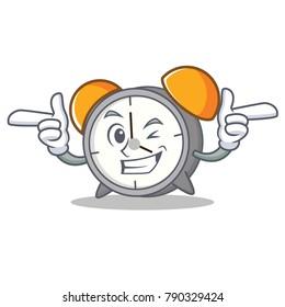 Wink alarm clock character cartoon