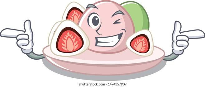 Wink ichigo daifuku with the cartoon shape