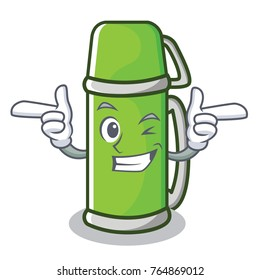 Wink thermos character cartoon style