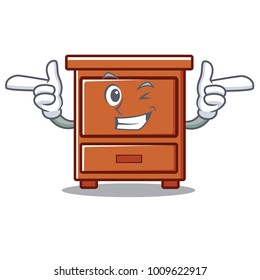 Wink wooden drawer character cartoon