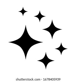 winkling stars. Shine icon, Clean star icon. isolated on white background. vector illustration