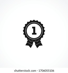 winner awards medal icon. first place icon. isolated on white background for web and mobile