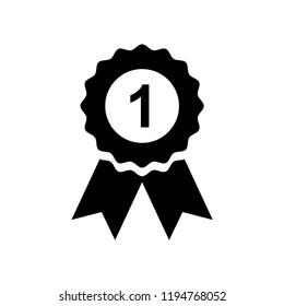 winner badge, number one