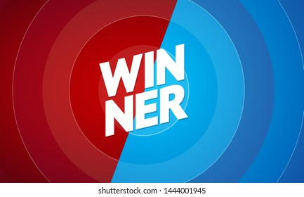 Winner Concept on a Abstract Color Background Finish Battle, Sport Challenge for Championship or Game. Vector illustration