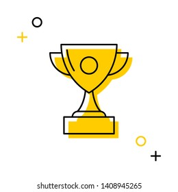 winner cup thin line icon on white background for web and mobile app. vector illustration easy to edit and customize. eps 10
